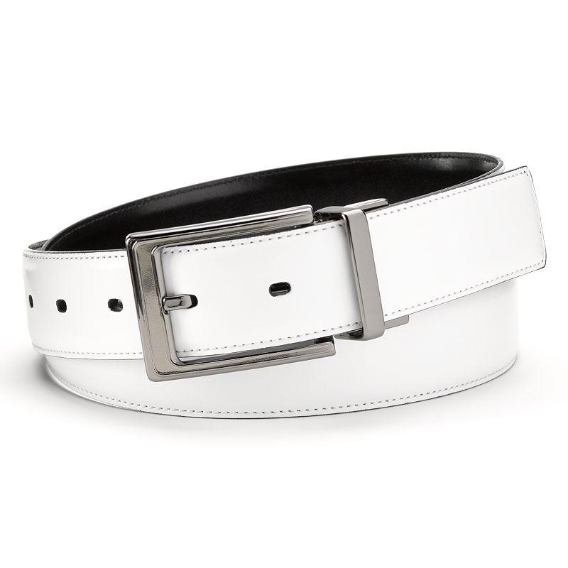 Grand Slam Stitched Reversible Golf Belt - Men, Size: 30 (White)