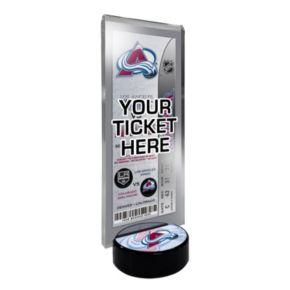 Colorado Avalanche Hockey Puck Ticket Display Stand