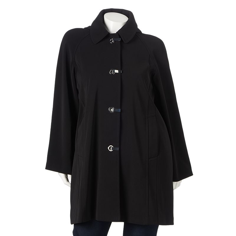 Towne by London Fog Hooded Trench Raincoat - Women's Plus Size