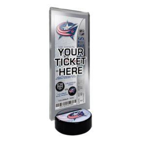 Columbus Blue Jackets Hockey Puck Ticket Display Stand