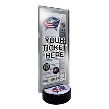 Columbus Blue Jackets Hockey Puck Ticket Display Stand