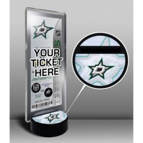 Dallas Stars Hockey Puck Ticket Display Stand
