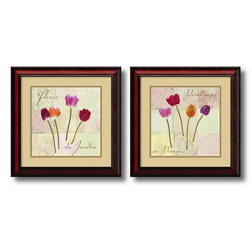 ''Garden Flowers'' 2-Piece Framed Art Print Set by Remy Dellal