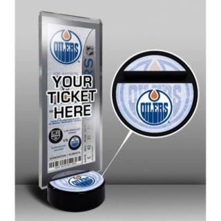 Edmonton Oilers Hockey Puck Ticket Display Stand