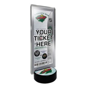 Minnesota Wild Hockey Puck Ticket Display Stand