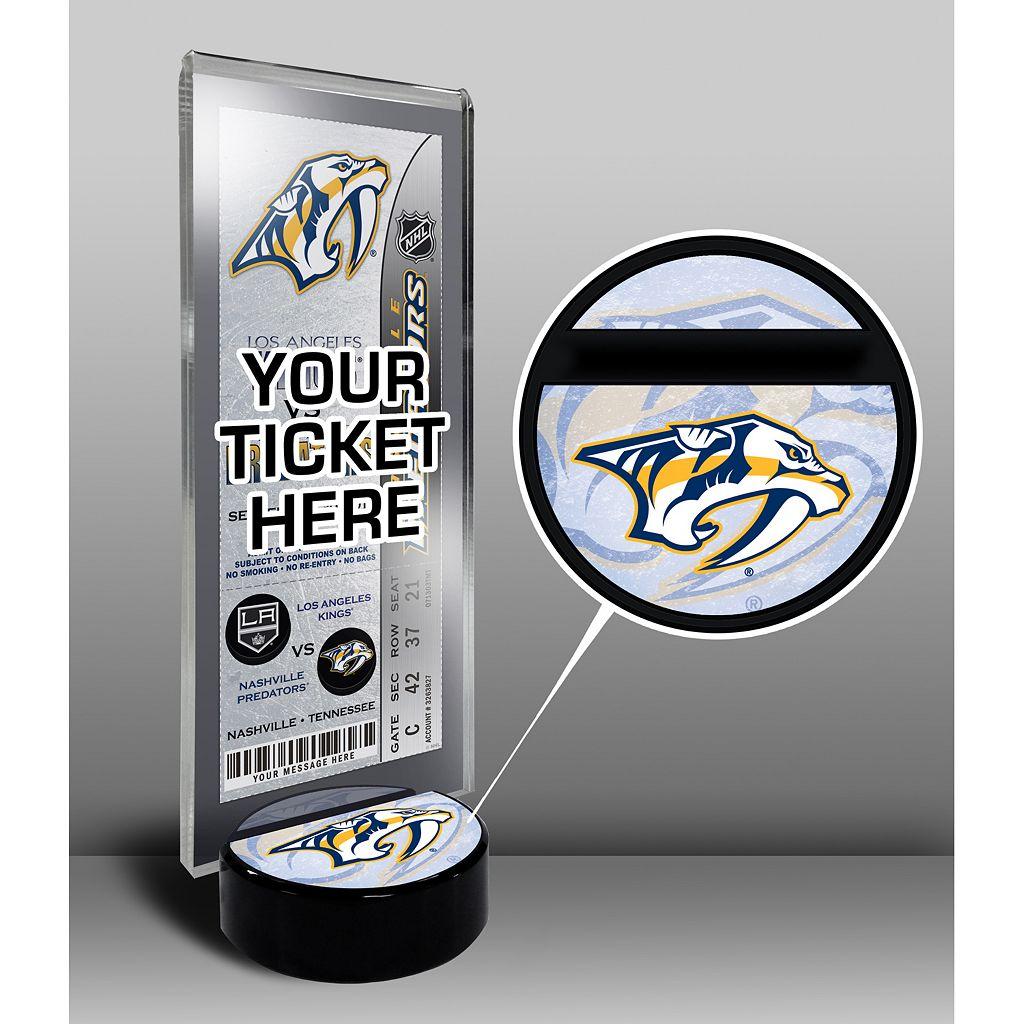 Nashville Predators Hockey Puck Ticket Display Stand