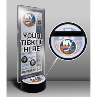 New York Islanders Hockey Puck Ticket Display Stand