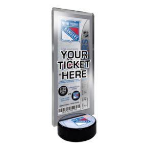 New York Rangers Hockey Puck Ticket Display Stand