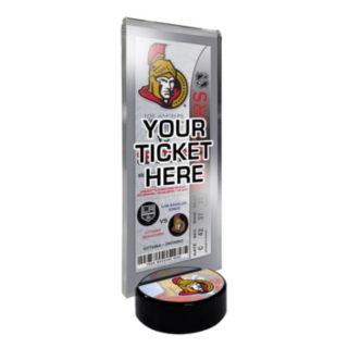 Ottawa Senators Hockey Puck Ticket Display Stand