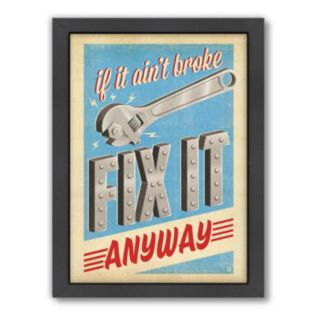Americanflat Anderson Design Group ''Fix It Anyway'' Framed Wall Art