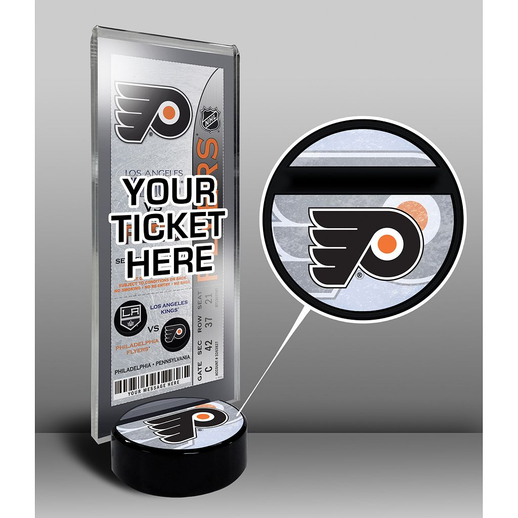 Philadelphia Flyers Hockey Puck Ticket Display Stand