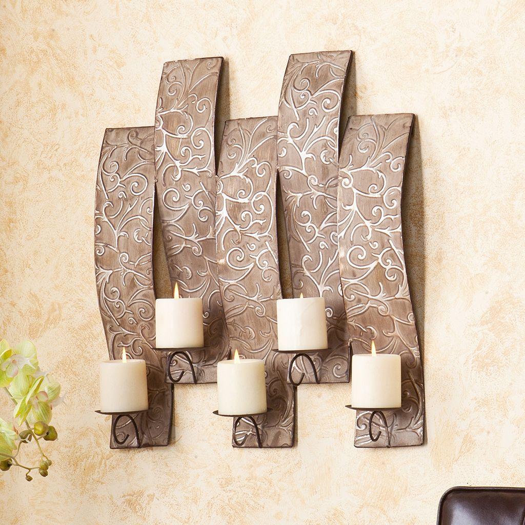 Southern Enterprises Scroll Wall Candleholder