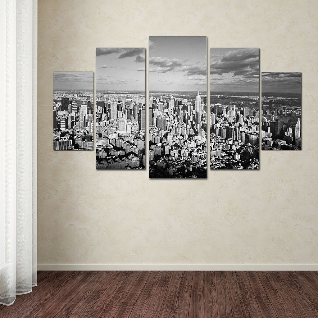 Aerial City 5-piece Canvas Wall Art Set