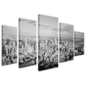 Aerial City 5-piece Canvas Wall Art Set