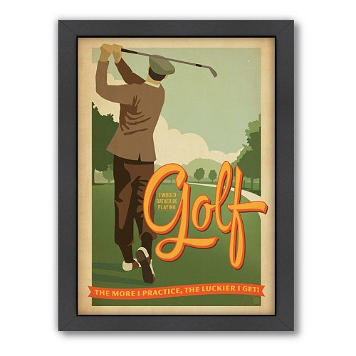 Americanflat Anderson Design Group ''Golf Lucky'' Framed Wall Art