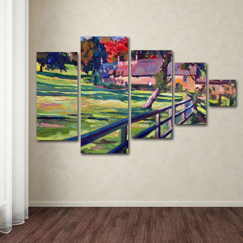 Country House 5-piece Canvas Wall Art Set