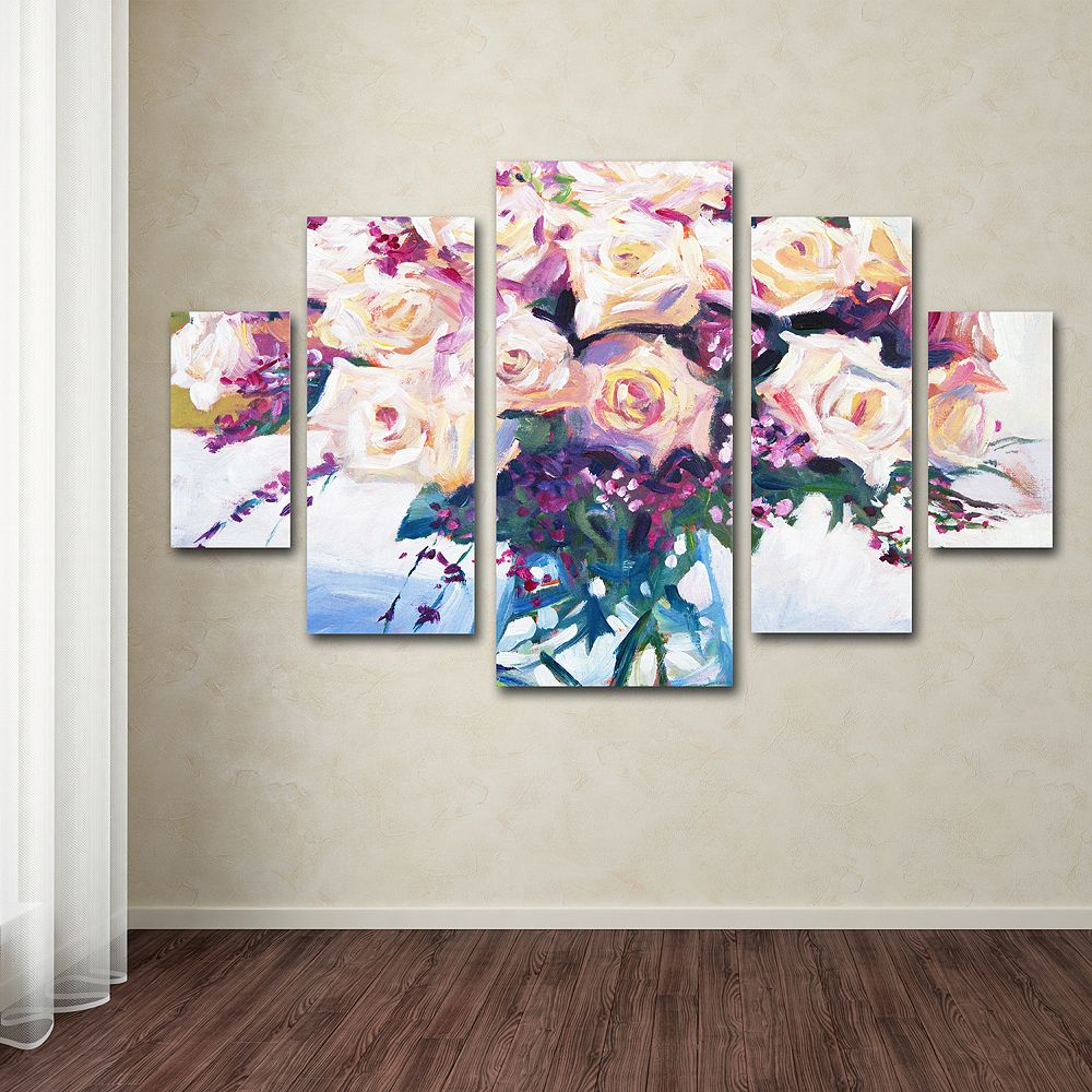 Roses in Glass 5-piece Canvas Wall Art Set