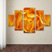 Hypnotic Yellow Rose 5-piece Canvas Wall Art Set