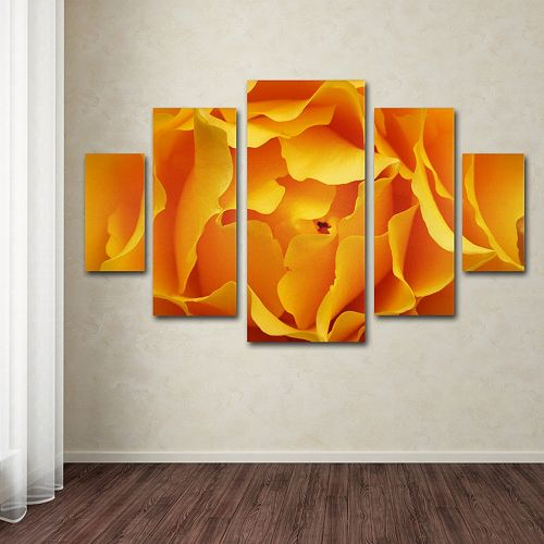 Hypnotic Yellow Rose 5-piece Canvas Wall Art Set