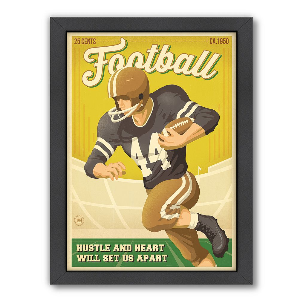 Americanflat Anderson Design Group ''Football'' Framed Wall Art