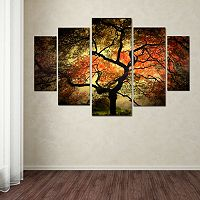 Japanese Tree 5-piece Canvas Wall Art Set