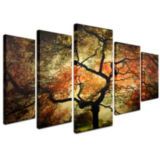 Japanese Tree 5-piece Canvas Wall Art Set