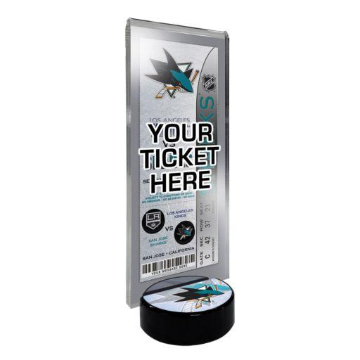 San Jose Sharks Hockey Puck Ticket Display Stand