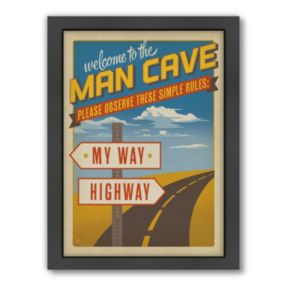 Americanflat Anderson Design Group ''My Way Highway'' Framed Wall Art