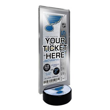 St. Louis Blues Hockey Puck Ticket Display Stand