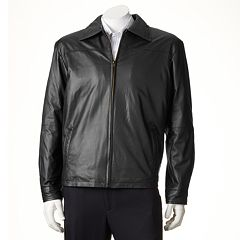 Men's Excelled New Zealand Lamb Leather Open-Bottom Jacket