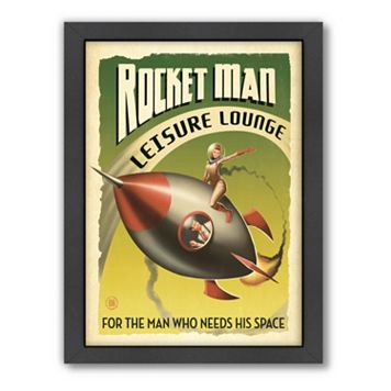 Americanflat Anderson Design Group ''Rocket Man'' Framed Wall Art