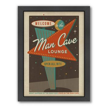 Americanflat Anderson Design Group ''Man Cave'' Framed Wall Art