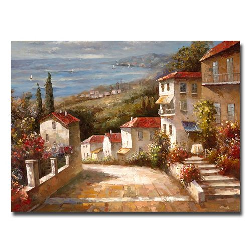 "14"" x 19"" ""Home in Tuscany"" Canvas Wall Art"