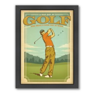 Americanflat Anderson Design Group ''Bad Day Golf'' Framed Wall Art