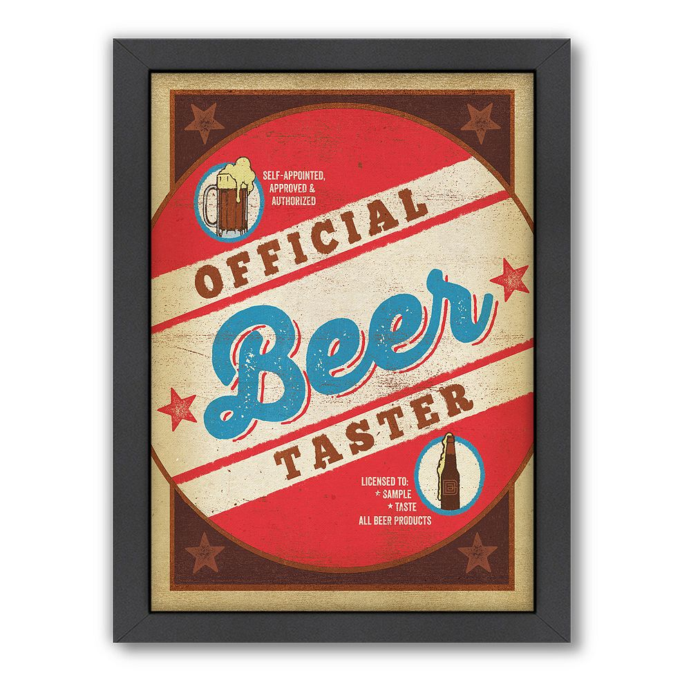 Americanflat Anderson Design Group ''Beer Taster'' Framed Wall Art
