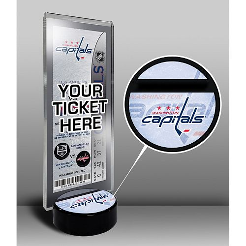 Washington Capitals Hockey Puck Ticket Display Stand