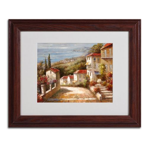 """Home in Tuscany"" Framed Canvas Wall Art"