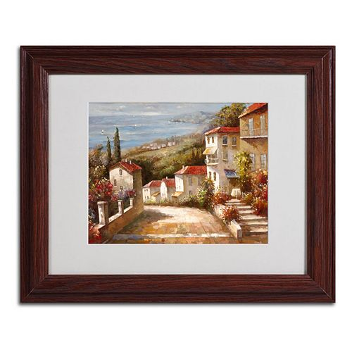 """""""Home in Tuscany"""" Framed Canvas Wall Art"""