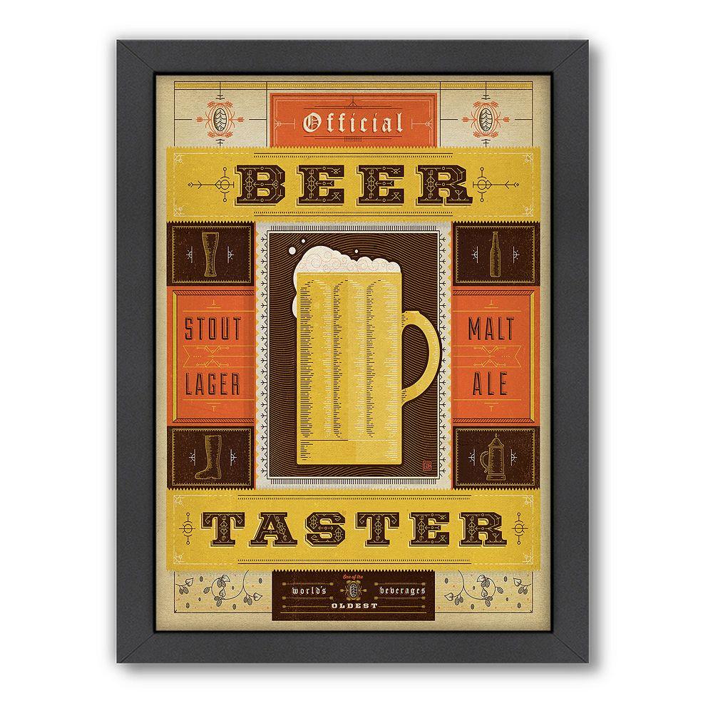 Americanflat Anderson Design Group ''Official Beer Taster'' Framed Wall Art