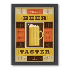 Americanflat Anderson Design Group ''Official Beer Taster'' Framed Wall Art