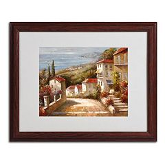 'Home in Tuscany' Framed Canvas Wall Art