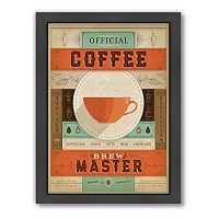 Americanflat Anderson Design Group ''Official Coffee Brew Master'' Framed Wall Art