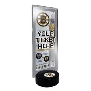 Boston Bruins Hockey Puck Ticket Display Stand