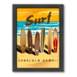 Americanflat ''Honolulu'' Surf Framed Wall Art