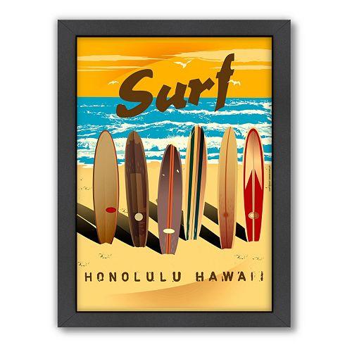Americanflat ''Honolulu'' Surf Framed Wall Art