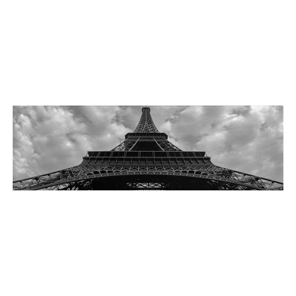 "10"" x 24"" ""Eiffel Panoramica"" Paris Canvas Wall Art"