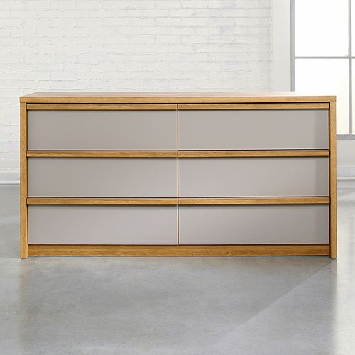 Sauder Soft Modern 6-Drawer Dresser