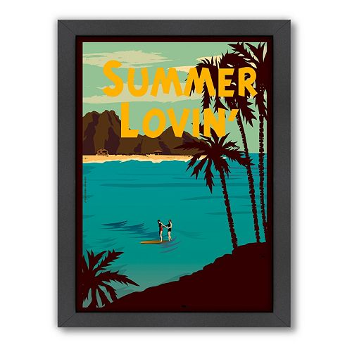 Americanflat ''Summer Lovin'' Framed Wall Art
