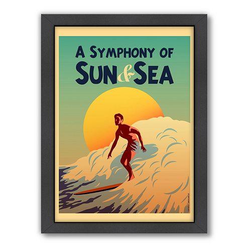 Americanflat ''Symphony'' Surf Framed Wall Art