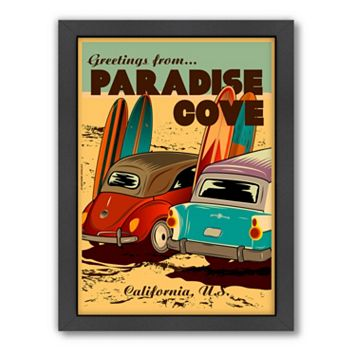 Americanflat ''Paradise Cove'' Beach Framed Wall Art
